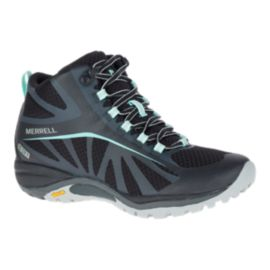 Merrell Women's Siren Edge Mid Waterproof Hiking Boots - Black/Teal