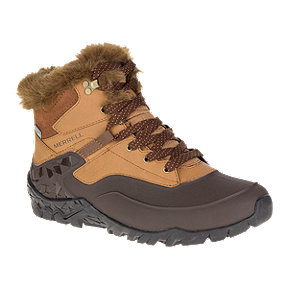 Merrell Women's Aurora 6 Ice + Waterproof Winter Boots - Tan