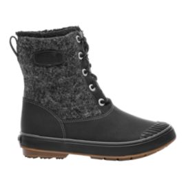 Keen Women's Elsa Waterproof Winter Boots - Black Wool