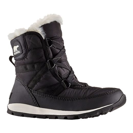 Sorel Women's Whitney Short Lace Winter Boots - Black