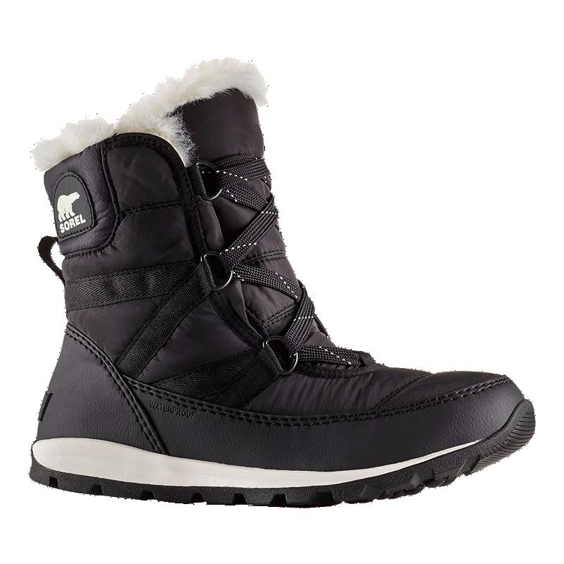 b7038af02 Sorel Women's Whitney Short Lace Winter Boots - Black   Atmosphere.ca