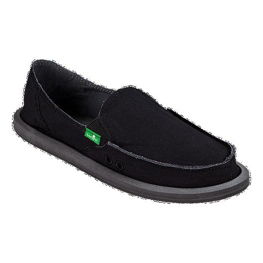 sneakers for cheap b7d53 02db9 Sanuk Women's Donna Daily Sidewalk Surfer Shoes - Black