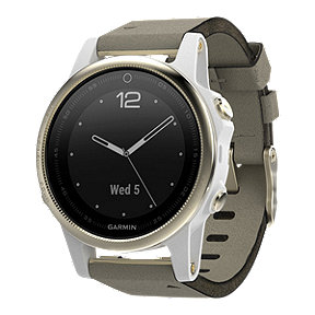 Garmin fēnix 5S GPS Watch - Sapphire Crystal, Champagne with Grey Band