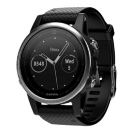Garmin fēnix 5S GPS Watch - Silver with Black Band