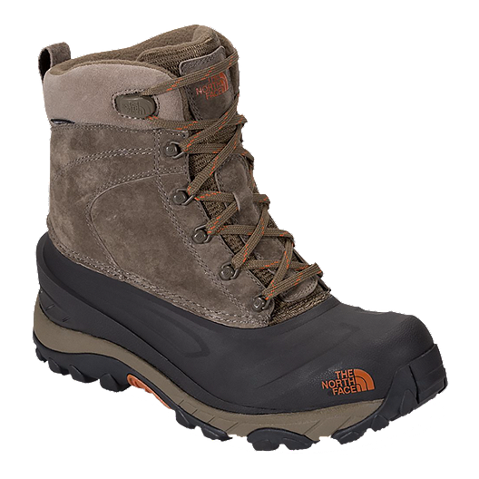 88519985700 The North Face Men's Chilkat III Winter Boots - Mudpack/Bombay