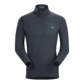 Arc'teryx Men's Rho LT Zip Neck Shirt - Nighthawk