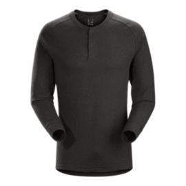Arc'teryx Men's Sirrus Henley Long Sleeve Shirt - Black - Prior Season