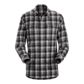Arc'teryx Men's Gryson Long Sleeve Flannel Shirt - Pilot Black - Prior Season
