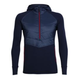 Icebreaker Men's Ellipse Half Zip Hoodie - Midnight Navy