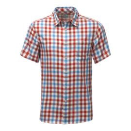The North Face Men's Road Trip Plaid Short Sleeve Shirt - Red