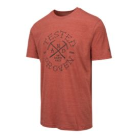 The North Face Men's Pickaxe Tri-Blend Short Sleeve T Shirt - Ketchup Red