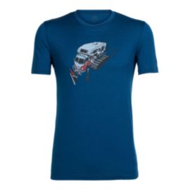 Icebreaker Men's Tech LiteSnowbug Short Sleeve T Shirt - Largo