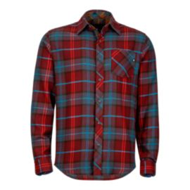 Marmot Men's Anderson Flannel Long Sleeve Shirt - Port Red