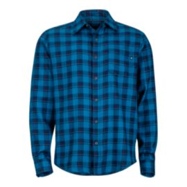 Marmot Men's Bodega Flannel Long Sleeve Shirt - Denim Blue