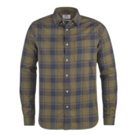 Fjällraven Men's Övik Flannel Long Sleeve Shirt - Khaki