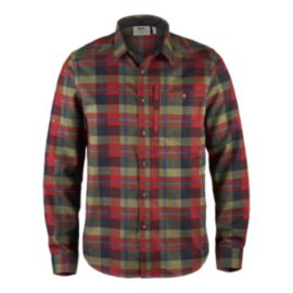 Fjallraven Men's Fjallglim Flannel Long Sleeve Shirt - Deep Red