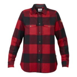Fjallraven Women's Canada Long Sleeve Shirt - Red
