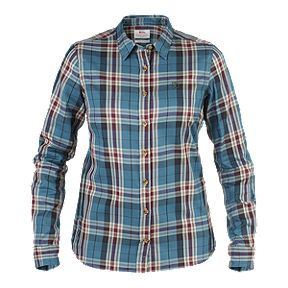354e7f257cc Fjallraven Women s Övik Flannel Long Sleeve Shirt - Glacier Green