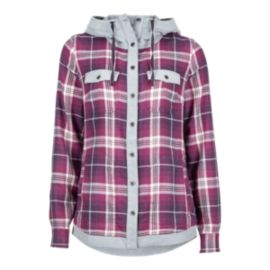 Marmot Women's Reagan Flannel Hooded Shirt - Grape