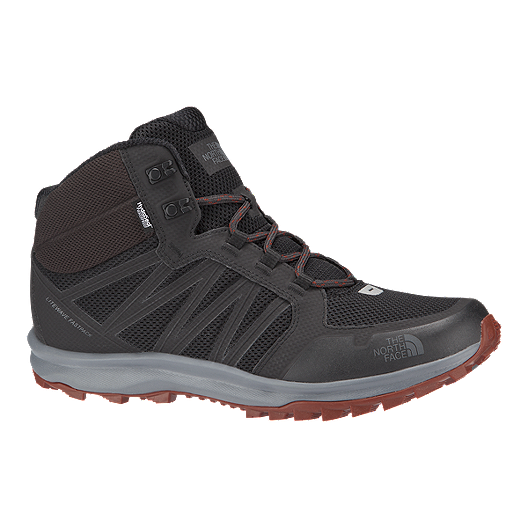 45f831a32729f The North Face Men s Litewave Fastpack Mid Hiking Boots - Grey Brown ...