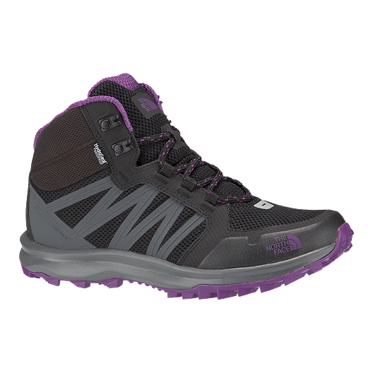 664d1de19 The North Face Women's Litewave Fastpack Waterproof Mid Hiking Boots -  Black/Purple