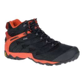 Merrell Men's Chameleon 7 Mid Waterproof Hiking Boots - Black/Fire