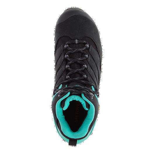 00083322ba9 Merrell Women's Chameleon 7 Mid Waterproof Hiking Boots - Black/Ice