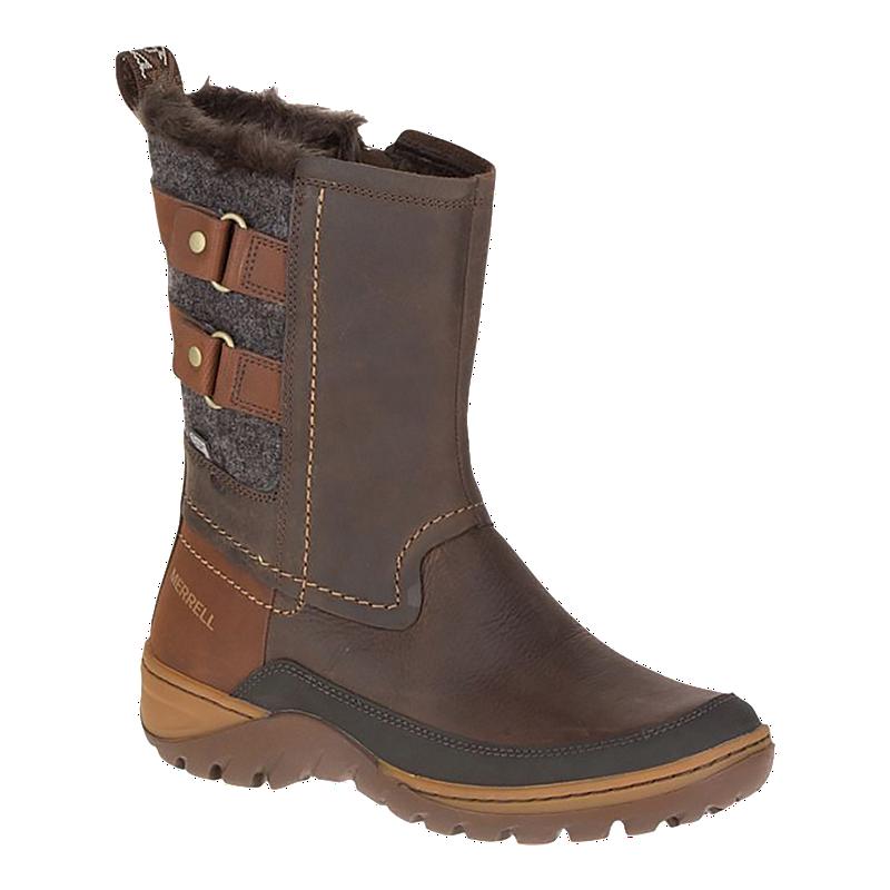 5ca9883026 Merrell Women's Sylva Mid Buckle Waterproof Winter Boots - Potting Soil