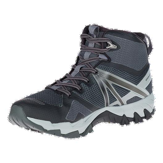 cfe7252fb2a Merrell Men's MQM Flex Mid Waterproof Hiking Boots - Black