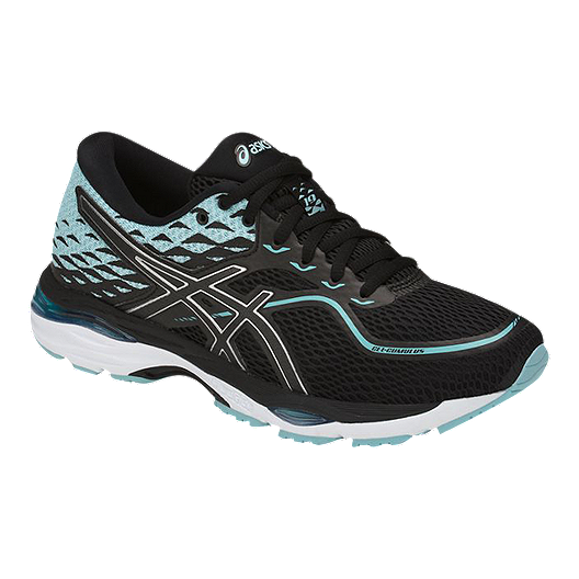cc424efa563 ASICS Women s Gel Cumulus 19 Running Shoes - Black Blue White ...