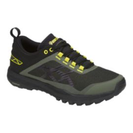 ASICS Women's Gecko XT Trail Running Shoes - Grey/Black/Green