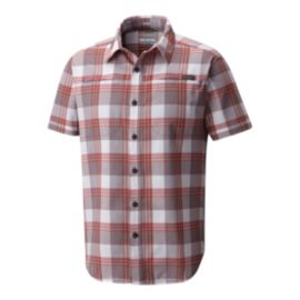 Columbia Men's Battle Ridge Short Sleeve Shirt - Red Element Plaid