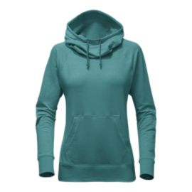The North Face Women's Terry Hooded Shirt - Bristol Blue
