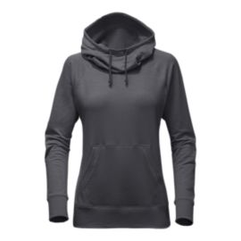 The North Face Women's Terry Hooded Shirt - Medium Grey