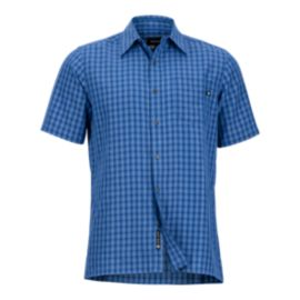 Marmot Men's Eldridge Short Sleeve Shirt - Varsity Blues