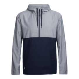 Icebreaker Men's Escape Pullover Hoodie - Fanthom Heather/Midnight Navy