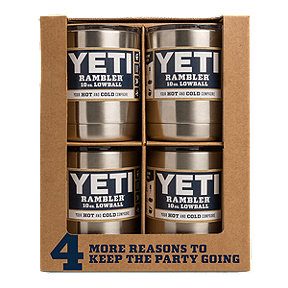 YETI Rambler 10 oz Lowball with Lid 4-Pack  - Stainless