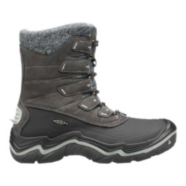 Keen Women's Durand Polar Shell Waterproof Winter Boots - Brown/Black
