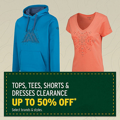 Men's & Women's Spring & Summer Clothing Clearance Up To 50% Off*
