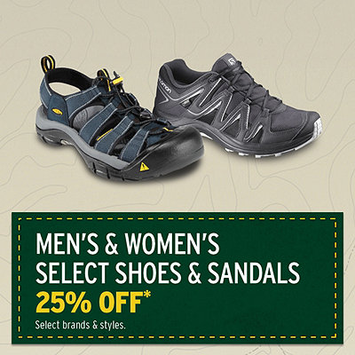 Men's & Women's Select Shoes & Sandals 25% Off*
