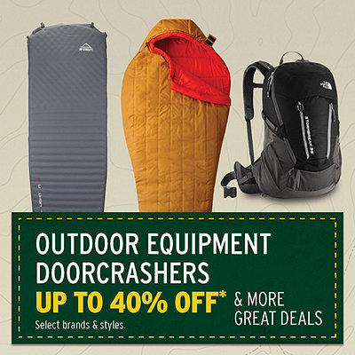 Outdoor Equipment on Sale Up to 40% Off* & More Great Deals
