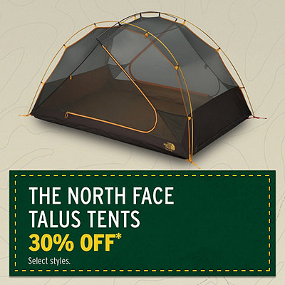 The North Face Talus Tents 30% Off*