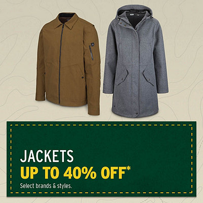 Men's & Women's Jackets Up To 40% Off*