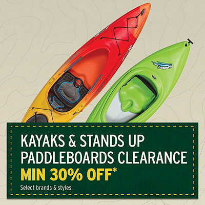 Kayaks & Stand-up Paddleboards Clearance* Priced min 30% Off*