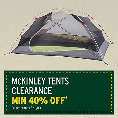 McKinley Tents Clearance* Priced min 40% Off