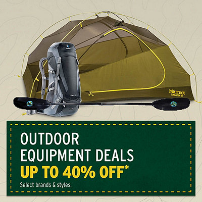 Outdoor Equipment Deals Up to 40% Off*
