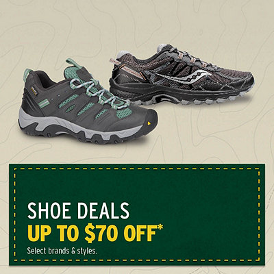 Select Shoe Deals Up to $70 Off*