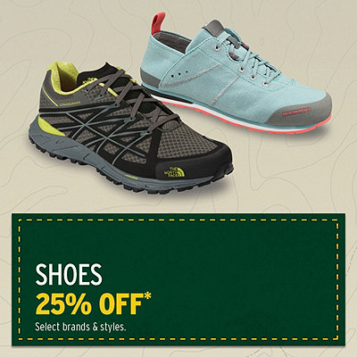Men's & Women's Select Shoes 25% Off*