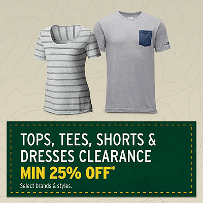 Men's & Women's Select Tops, Tees, Shorts & Dresses Clearance Min 25% Off*