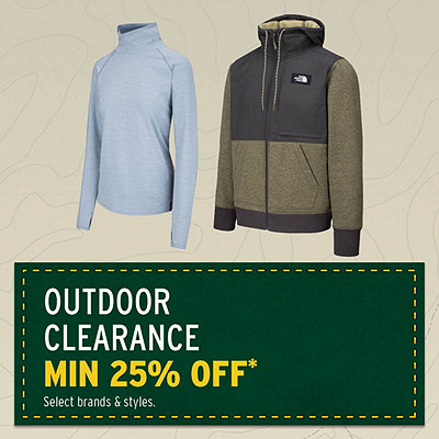 Outdoor Clothing Clearance Min. 25% Off*